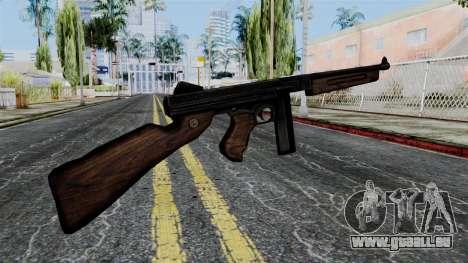 Thompson from Battlefield 1942 pour GTA San Andreas deuxième écran
