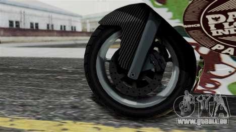 Bati Wayang Camo Motorcycle pour GTA San Andreas vue de droite
