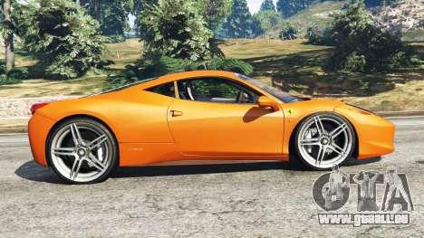 GTA 5 Ferrari 458 Italia 2009 linke Seitenansicht