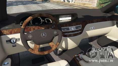 GTA 5 Mercedes-Benz S550 W221 v0.4.2 [Alpha] avant droite vue de côté