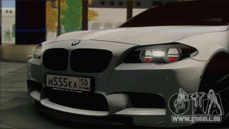 BMW M5 F10 Grey Demon pour GTA San Andreas sur la vue arrière gauche