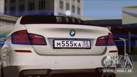 BMW M5 F10 Grey Demon pour GTA San Andreas vue de droite