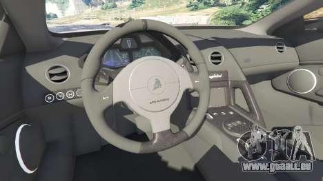 GTA 5 Lamborghini Reventon Roadster [Beta] vorne rechts Seitenansicht