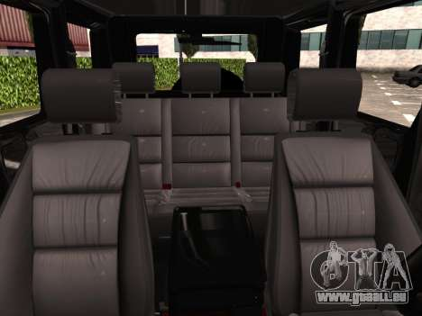 Mercedes-Benz G500 pour GTA San Andreas vue de dessus