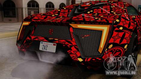 Lykan Hypersport Batik für GTA San Andreas Innen