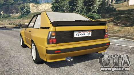GTA 5 Audi Sport quattro arrière vue latérale gauche