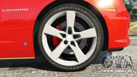 GTA 5 Chevrolet Camaro SS 2010 [Beta] arrière droit vue de côté
