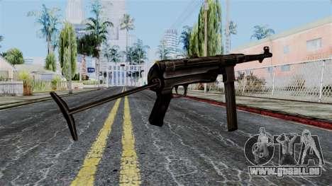 MP40 from Battlefield 1942 für GTA San Andreas zweiten Screenshot