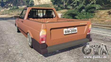 GTA 5 Volkswagen Saveiro Cli 1.6 [Edit] hinten links Seitenansicht