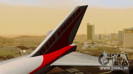 Boeing 747-237B Air India Flight 182 für GTA San Andreas zurück linke Ansicht