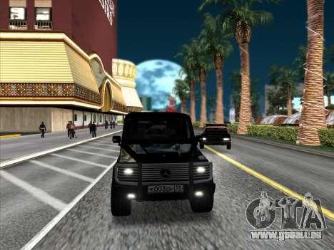 Mercedes-Benz G500 pour GTA San Andreas vue de droite