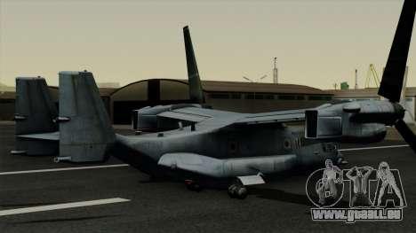 MV-22 Osprey pour GTA San Andreas laissé vue