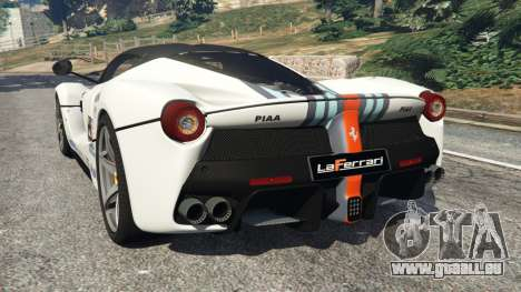 GTA 5 Ferrari LaFerrari 2013 v2.0 arrière vue latérale gauche
