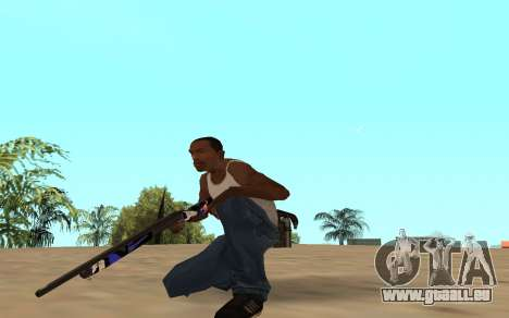Fusil de chasse avec un bébé tigre pour GTA San Andreas troisième écran
