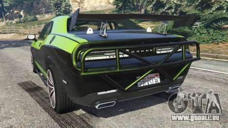 GTA 5 Dodge Challenger 2015 Shaker Furious 7 hinten links Seitenansicht