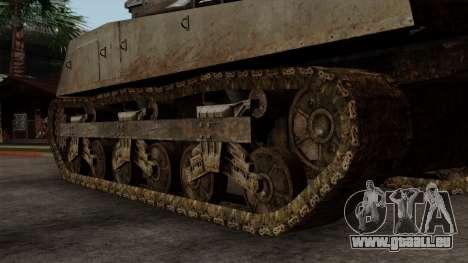 M4 Sherman from CoD World at War pour GTA San Andreas sur la vue arrière gauche