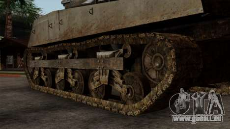 M4 Sherman from CoD World at War für GTA San Andreas zurück linke Ansicht
