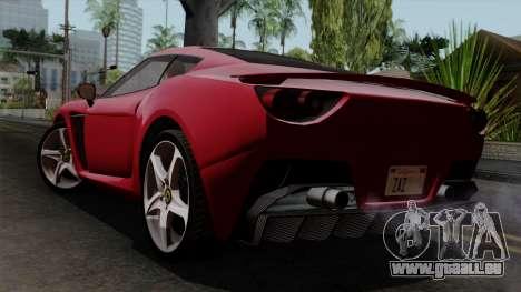 Grotti Carbonizzare FF pour GTA San Andreas laissé vue