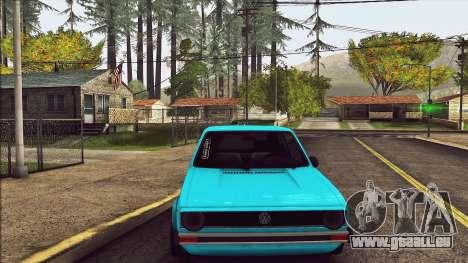 Volkswagen Golf MK1 pour GTA San Andreas vue arrière