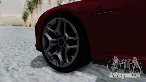 Lamborghini Asterion Concept 2015 v2 pour GTA San Andreas sur la vue arrière gauche