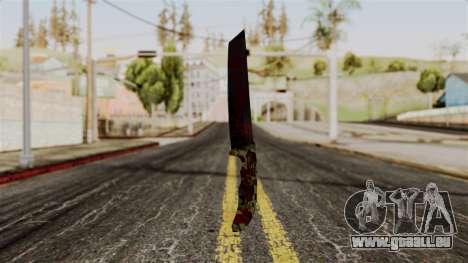 Nouveau couteau ensanglanté camo pour GTA San Andreas
