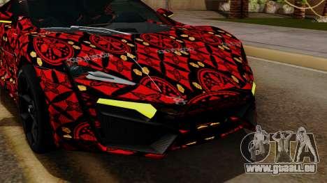 Lykan Hypersport Batik pour GTA San Andreas vue de côté