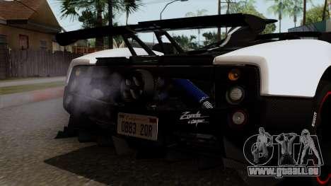 Pagani Zonda Cinque Roadster für GTA San Andreas Innenansicht