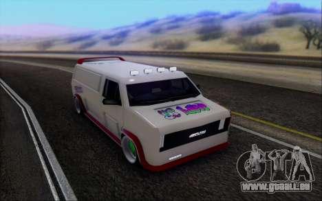 Burrito So Low pour GTA San Andreas vue arrière