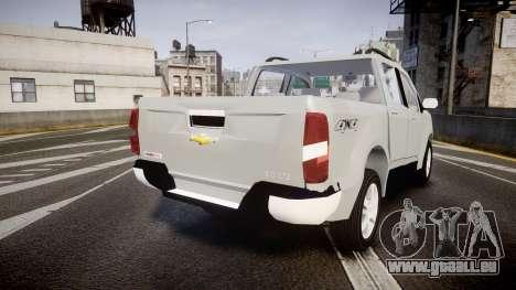 Chevrolet S10 LTZ 2014 v0.1 für GTA 4 hinten links Ansicht