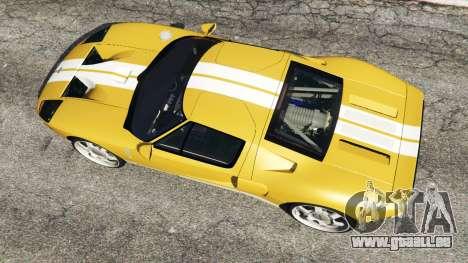 GTA 5 Ford GT 2005 v1.1 Rückansicht