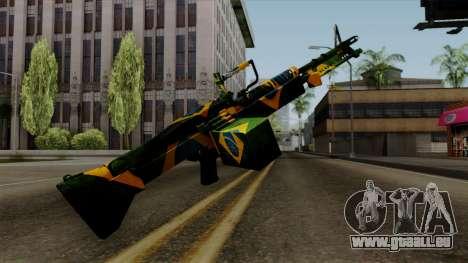 Brasileiro Minigun v2 für GTA San Andreas dritten Screenshot
