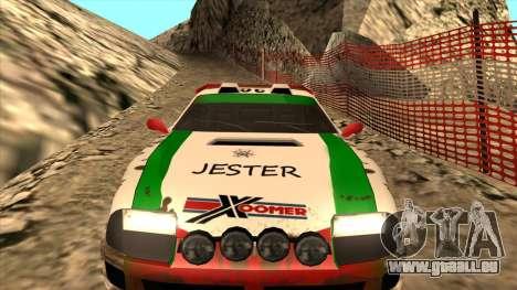 Rally Jester pour GTA San Andreas vue arrière