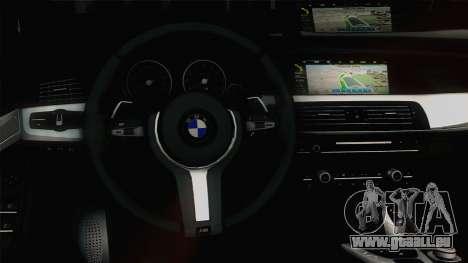 BMW M5 F10 Grey Demon pour GTA San Andreas vue intérieure