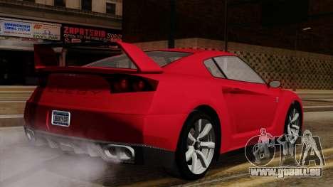 GTA 5 Elegy RH8 für GTA San Andreas zurück linke Ansicht