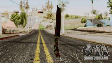Nouveau couteau ensanglanté camo pour GTA San Andreas deuxième écran