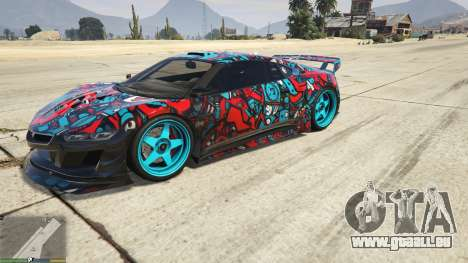 GTA 5 Dinka Jester (voiture de Course) Autocollant de  vue latérale gauche