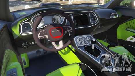 GTA 5 Dodge Challenger 2015 Shaker Furious 7 hinten rechts