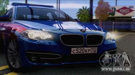 BMW 520 Comité d'Enquête pour GTA San Andreas sur la vue arrière gauche