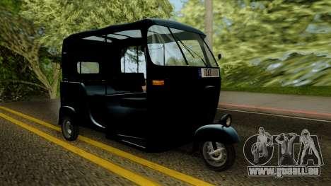 Indian Auto Rickshaw Tuk-Tuk für GTA San Andreas