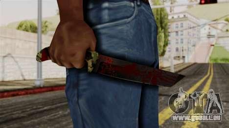 Nouveau couteau ensanglanté camo pour GTA San Andreas troisième écran