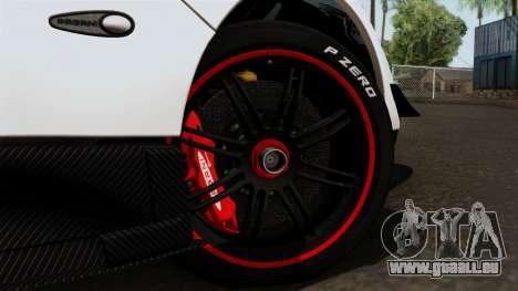 Pagani Zonda Cinque Roadster für GTA San Andreas zurück linke Ansicht