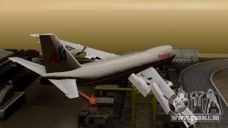 Boeing 747-100 American Airlines pour GTA San Andreas laissé vue