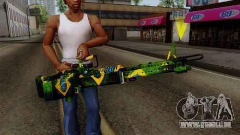 Brasileiro Minigun v2 für GTA San Andreas