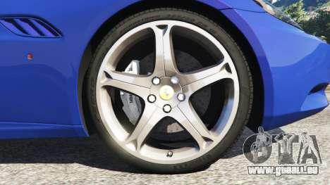 GTA 5 Ferrari California (F149) 2012 [Beta] arrière droit vue de côté