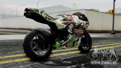 Bati Wayang Camo Motorcycle für GTA San Andreas linke Ansicht