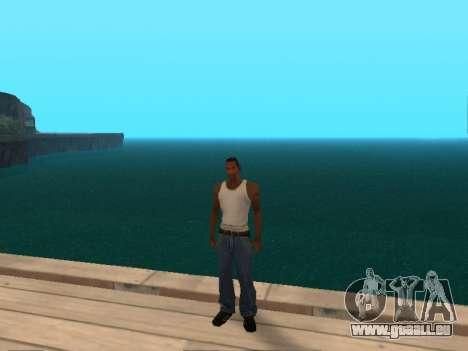 Vert foncé de l'eau réaliste pour GTA San Andreas troisième écran