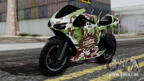 Bati Wayang Camo Motorcycle pour GTA San Andreas