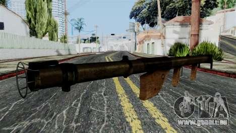 Bazooka from Battlefield 1942 pour GTA San Andreas deuxième écran