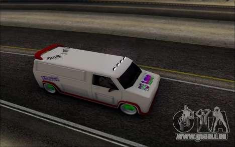 Burrito So Low pour GTA San Andreas sur la vue arrière gauche