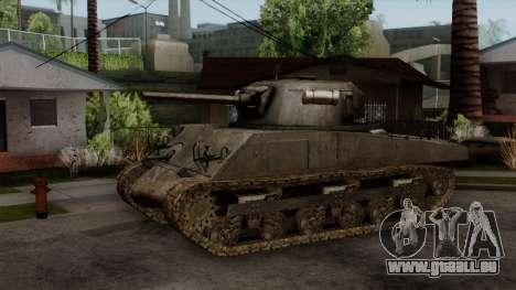 M4 Sherman from CoD World at War pour GTA San Andreas